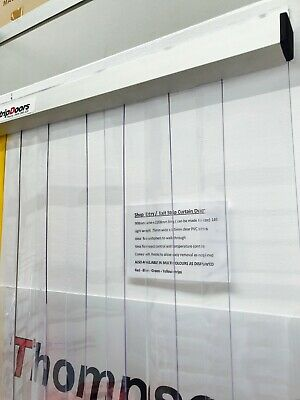 PVC Strip Curtain Door 1500mm w x 2140mm l - Entry - Dust - Insects 100mm PVC