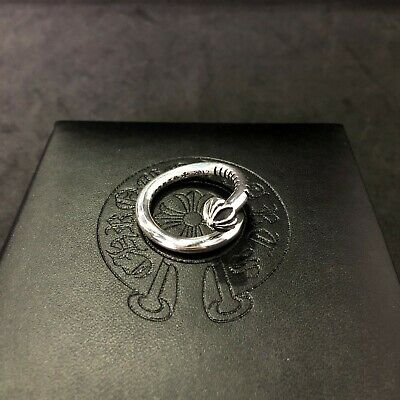 214ee8cde957 Authentic Chrome Hearts .925 Sterling Silver Cross Ball Plus Nail Ring  Sizeable