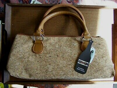 Insulated Wine Clutch By Primeware-Cork Colored-New With Tags