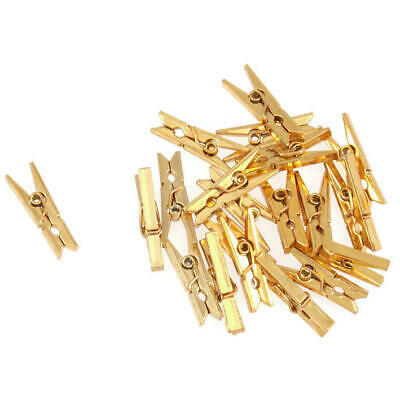 CLEARANCE 20 Gold Silver Mini Pegs Card Making Scrapbook Craft Embellishments