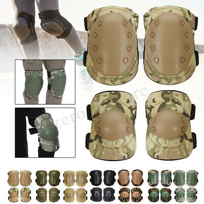 DPM Military Tactical Knee & Elbow Pad Set Paintball / Airsoft Protection Pads