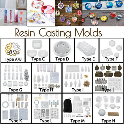14Types Resin Casting Molds Silicone DIY Mold Making Craft Jewelry Pendant Mould