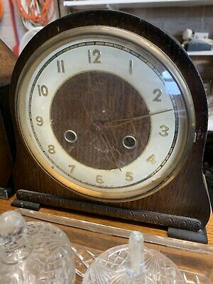 Antique / Vintage Wooden Mantle Pendulum Clock