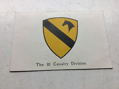 WWII 1st. Cavalry Division US Army Seasons Greetings Tokyo Japan