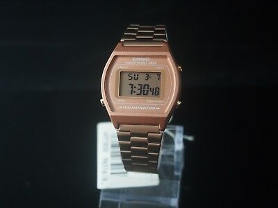 CASIO Rose Gold Digital Stainless Steel B640WC-5 100% Original Brand New + Gift