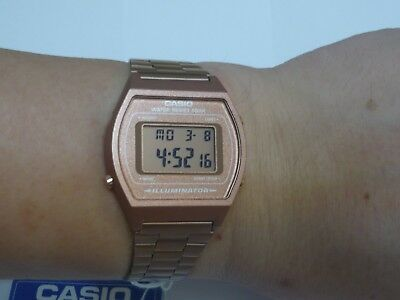 CASIO Rose Gold Digital Stainless Steel B640WC-5 100% Original Brand New !!