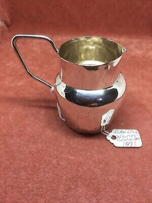 A Superb Antique Solid Silver Cream - Milk Jug by John Wilmot HM Birmingham 1893