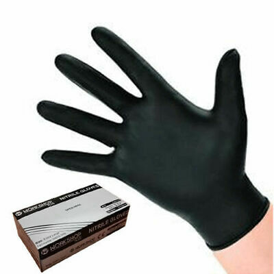 Black Nitrile Gloves Large - 1000 WORKSHOPPLUS FREE DELIVERY