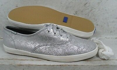 dc627c418028b Keds Womens Champion Silver Metallic Leather Sneakers Shoes WH-52060 size  9.5 M