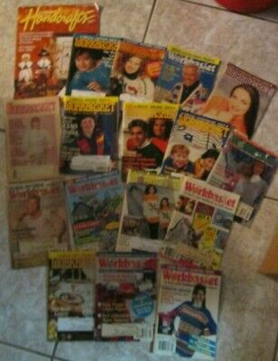 16 Vintage Workbasket magazines - crochet knitting Needlework Crafts