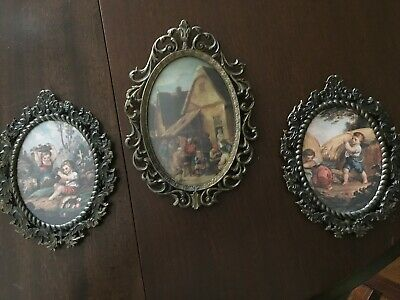 Vintage Brass picture frames 3 Made in Italy