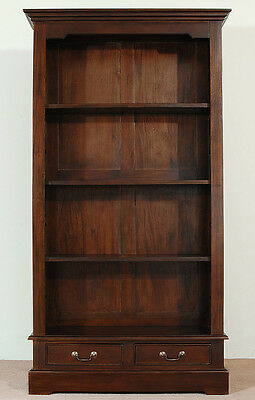 OPENFRONT LIBRARY best quality bookcase mahogany solid wood 80157