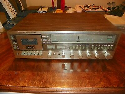 Vintage Zenith Integrated Stereo Receiver MC 6065 cassette player/recorder