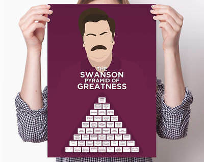 Ron Swanson Pyramid of Greatness, Parks and Recreation, Pawnee, Nick Offerman