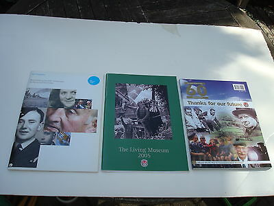 3 X VINTAGE WW11 60th ANNIVERSARY COMMEMORATIVE BROCHURES, PROGRAMMES FROM 2005