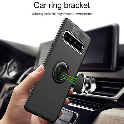 For Samsung Galaxy S10 5G J4 J6 A9 Hybrid Magnetic Ring Holder TPU+Metal Cover