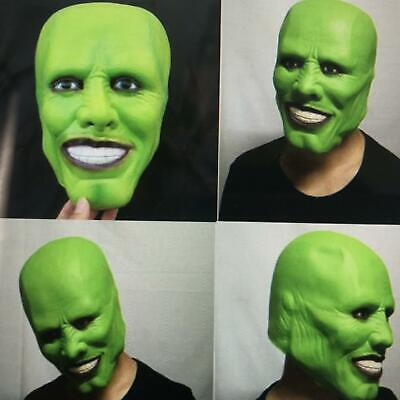 'The Mask' Green Latex Masks Jim Carrey Costume Fancy Dress Halloween Film