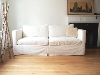 Pleasant Crate And Barrel Sofa 200 00 Picclick Evergreenethics Interior Chair Design Evergreenethicsorg