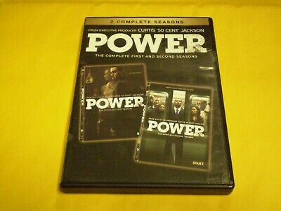 Power: The Complete First & Second Season (5 DVD Set, 2015)