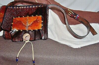 Unique Angel Blade Hand Carved Tooled Textured Custom Painted Full Size Day Bag