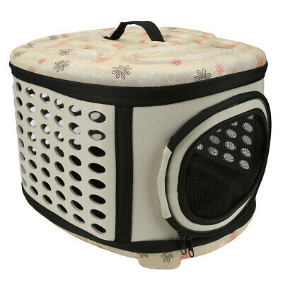 Pet Dog Cat Puppy Carrier Bag Soft-sided Travel Cage Washable Foldable Useful