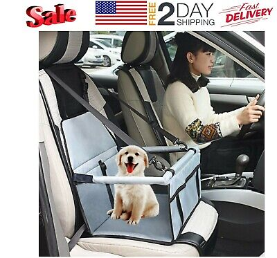 Dog Car Seat Bag Booster Belt Ride Safety Basket Storage Pocket Travel Pets