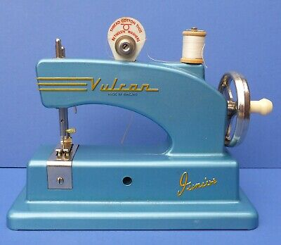 Vintage Miniature Child's Vulcan Junior Sewing Machine + Box 1950s Cyldon Bird