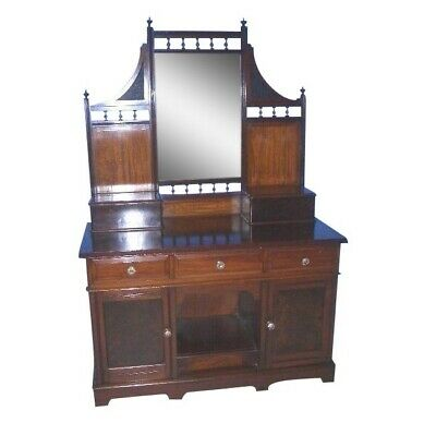 Antique Mahogany Vanity Dressing Table Great for Sink Dog or Cat Kennel Below