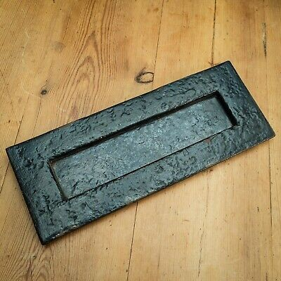 Architectural Antique Vintage Original Cast Iron Sprung Letter Box 270mm x 105mm