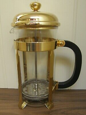 Gold plated La Cafetiere coffee maker ~ 8 cup ~ lovely condition