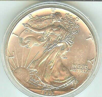 1993 Silver American Eagle BU 1 oz Coin US $1 Dollar Uncirculated Brilliant