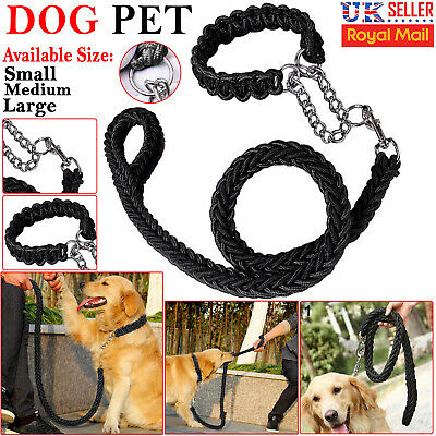 Dog Lead Pet Leash with Dog Chain Coupler Splitter Strong Harness Puppy Collar