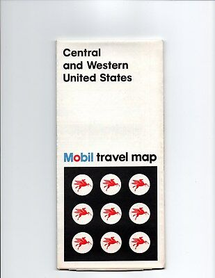 Mobil Oil Company Travel Map,Central & Western United States 1972 Edition, A-1,
