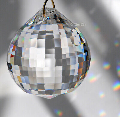 Huge 50mm Asfour Sphere Crystal Clear Disco Ball Prism SunCatcher Feng Shui 2""