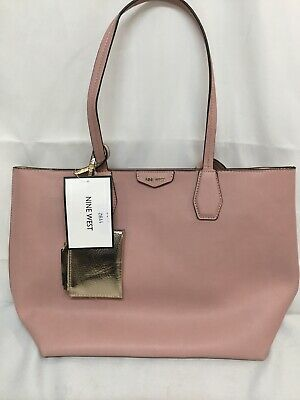 ae4879277 Nine West Caden Tote Pink/Blush New With Tags Separate Attachment 17 X 12