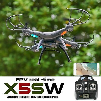 Syma X5SW RC Quadcopter Drone with Wide Angle HD Camera WIFI FPV 2.4G 6Axis 4CH
