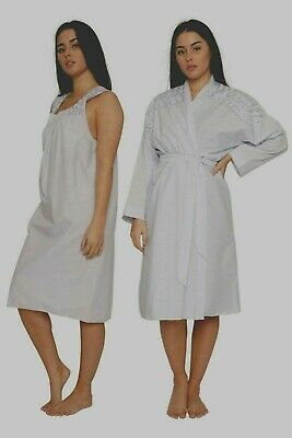 Cotton Set Gown & Sleeveless Nightdress Nightwear Gown £11.90 Nightdress  £7.90