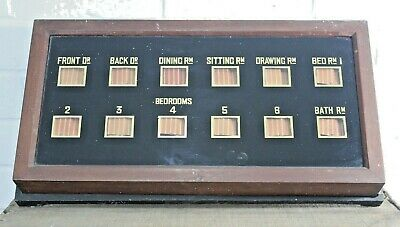Antique Mahogany Cased Servants / Butlers Bell Box, 12 Way / Rooms. Edwardian