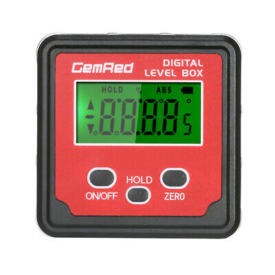 GemRed Digital Protractor Gauge Level Angle Finder Inclinometer Magnet Base H5E0