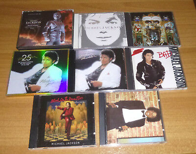 Integrale 8 CD Michael Jackson Bad Thriller 25th History Off the wall Invincible