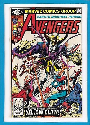 """Avengers #204_February 1981_Nm Minus_""""trapped On The Island Of The Yellow Claw""""!"""