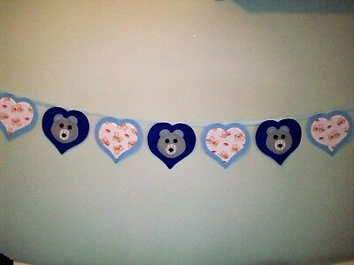 Handmade  Baby Nursery Wall Decoration Bunting Garland Banner Teddy Bears