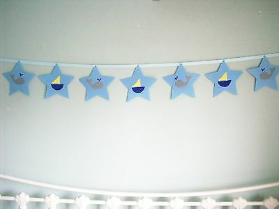 Handmade  Baby Nursery Wall Decoration Bunting Garland Banner Nautical Theme