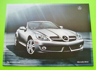 2010 Mercedes Benz SLK ROADSTER / COUPE BROCHURE 14-pgs COLOR SELECTIONS nr-MINT