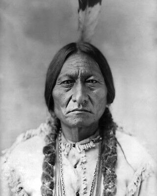 1885 Native American Indian CHIEF SITTING BULL Glossy 8x10 Photo Sioux Print
