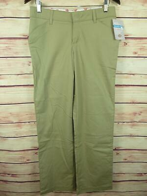 Dickies Womens Stretch Twill Relaxed Fit Pants Sz 4R Beige Straight Leg Midrise