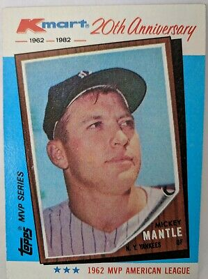 1982 Topps Kmart 20th Anniversary Mickey Mantle 1 Of 44 200