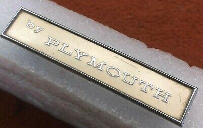 100 % Factory Cuda Tail Panel 1970 74  Emblem Nameplate Oem By Plymouth 2963770
