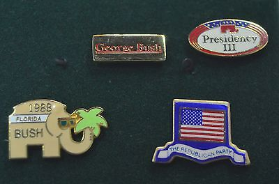 Vintage Four Republican Party Lapel Tie Tac Pins Highly Collectible