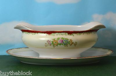 Rare Hard To Find Collectible  Garden China Gravy Boat